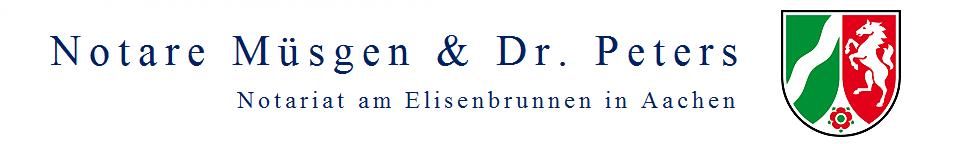Notare Müsgen und Dr. Peters